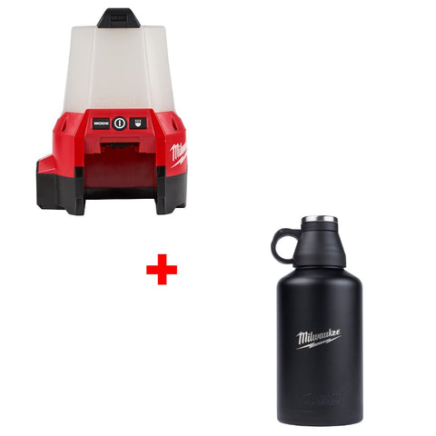 Milwaukee 2144-20 M18 RADIUS Compact Site Light w/ FREE  47-00-0016 64oz Growler