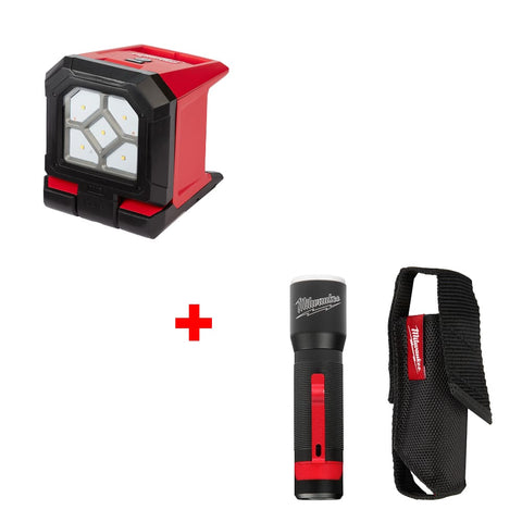 Milwaukee 2365-20 M18 ROVER Mounting Flood Light w/ FREE 2107S 325L Flashlight