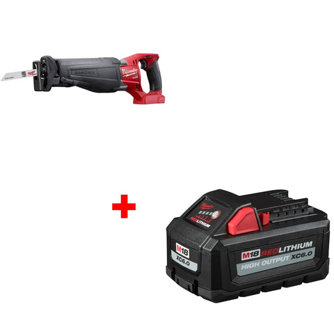 Milwaukee 2720-20 M18 Reciprocating Saw w/ FREE 48-11-1865 XC6.0 Battery Pack