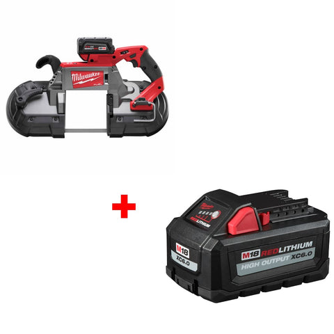 Milwaukee 2729-21 M18 Band Saw 1 BAT KIT w/ FREE 48-11-1865 M18 XC6.0 Battery Pk