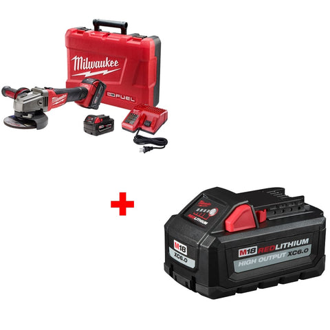 "Milwaukee 2781-22 M18 4-1/2-5"" Grinder Kit w/ FREE 48-11-1865 XC6.0 Battery Pack"