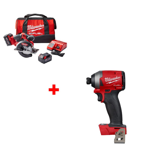 "Milwaukee 2782-22 M18 5-3/8""-5-7/8"" Circ Saw Kit w/ FREE 2853-20 Impact Driver"