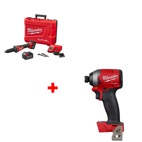 "Milwaukee 2784-22 M18 FUEL 1/4"" Die Grinder Kit with FREE IMPACT DRIVER"