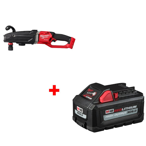 Milwaukee 2811-20 M18 Right Angle Drill w/ FREE 48-11-1865 XC6.0 Battery Pack