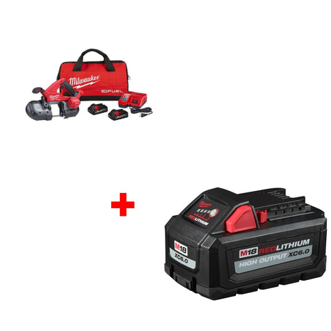 Milwaukee 2829-22 M18 Band Saw Kit w/ FREE 48-11-1865 M18 XC6.0 Battery Pack