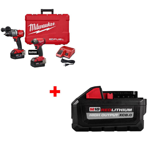 Milwaukee 2999-22 M18 2-Tool Drill/Driver Combo Kit w/ FREE 48-11-1880 BATTERY