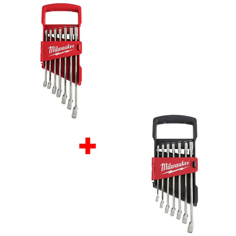 Milwaukee 48-22-9407 7Pc Wrench Set-SAE, 48-22-9507 7Pc Wrench Set-Metric