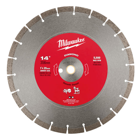 "Milwaukee 49-93-7040 14"" Diamond Segmented Saw Blade"