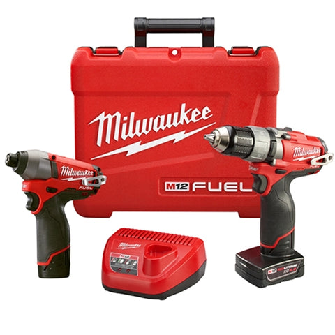 Milwaukee 2594-22 M12 FUEL Drill/Driver & Impact Driver Combo Kit