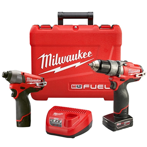 Milwaukee 2597-22 M12 FUEL Hammer Drill/Driver & Impact Driver Combo Kit
