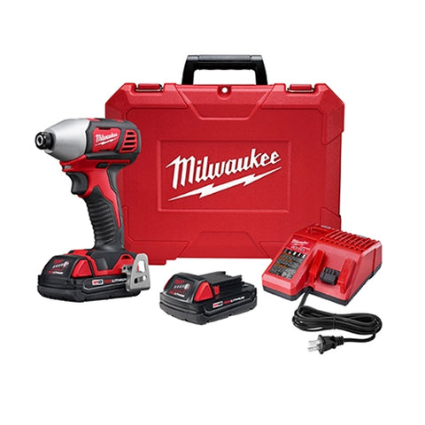 "Milwaukee 2657-22CT M18 2-Speed 1/4"" Hex Impact Driver Kit"