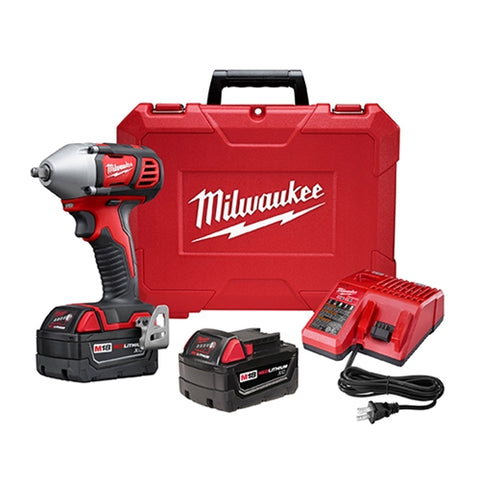 "Milwaukee 2658-22 M18 3/8"" Impact Wrench Kit with Friction Ring"
