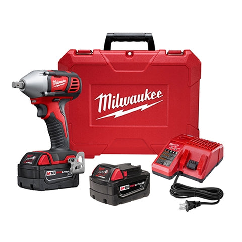 "Milwaukee 2659-22 M18 1/2"" Impact Wrench Kit with Pin Detent"