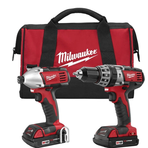 Milwaukee 2697-22CT M18 Cordless LITHIUM-ION 2-Tool Combo Kit