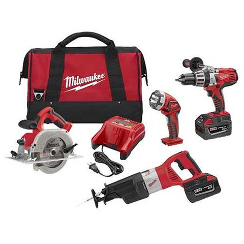 28V Cordless 4-Tool Combo Kit, Milwaukee Brand P/N 0928-29