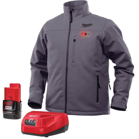 Triple Extra Large Gray Heated Jacket Kit, Milwaukee Brand P/N 201G-213X