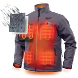 Milwaukee 201G-213X M12 Heated Jacket Kit - Gray, 3XL