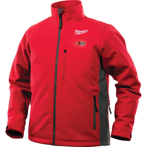 Triple Extra Large Red/Gray Heated Jacket Only, Milwaukee Brand P/N 201R-203X