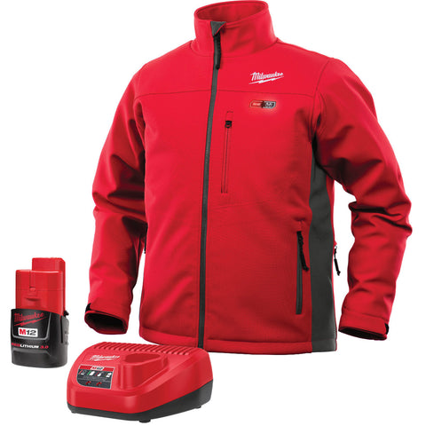 Medium Red/Gray Heated Jacket Kit, Milwaukee Brand P/N 201R-21M