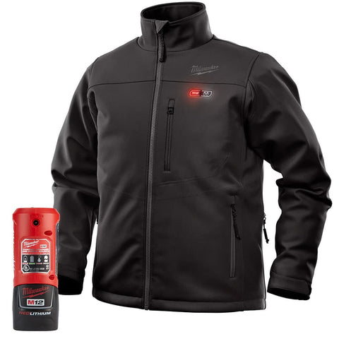 Extra Large Black Heated TOUGHSHELL Jacket Kit, Milwaukee Brand P/N 202B-21XL