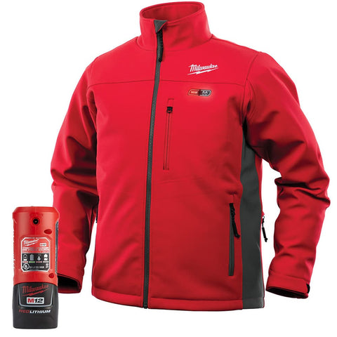 Double Extra Large Red Heated TOUGHSHELL Jacket Kit, Milwaukee Brand P/N 202R-212X