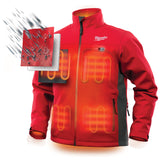 Milwaukee 202R-21XL M12 Heated TOUGHSHELL Jacket Kit XL, Red