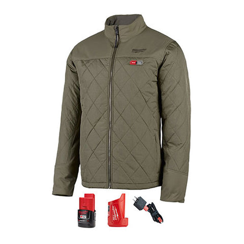 Milwaukee 203OG-21S M12 Heated Axis Jacket Kit Small, Olive Green