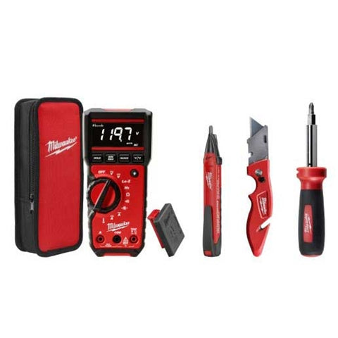Multimeter, Voltage Detector, Utility Knife, 11 in 1 Screw, Milwaukee Brand P/N 2220-20