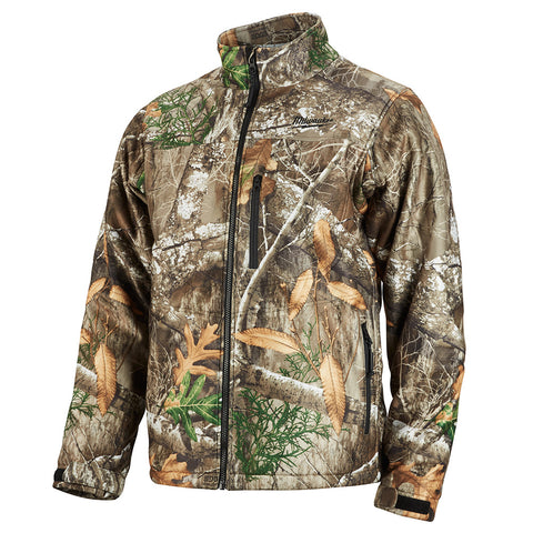 Large Realtree Camo Heated QUIETSHELL Jacket Only, Milwaukee Brand P/N 222C-20L