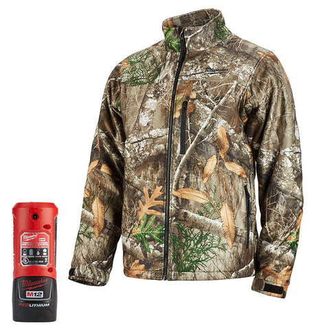Milwaukee 222C-21L M12 Heated QUIETSHELL Jacket Kit L, Realtree Camo