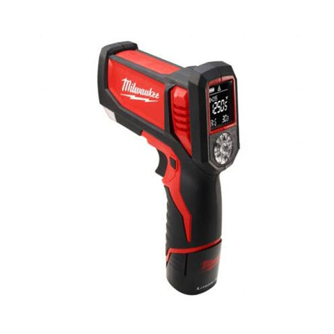 Milwaukee 2277-21 M12 Laser Temp-Gun Cordless Thermometer Kit for HVAC/R
