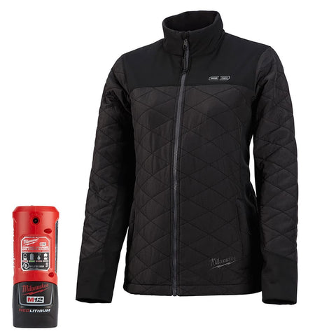 Milwaukee 233B-212X M12 Heated Women's AXIS Jacket Kit 2X, Black