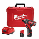 "Milwaukee 2406-22 M12 1/4""  Hex 2 Spd Screwdriver Kit"
