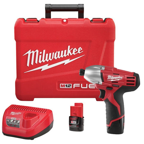 "Milwaukee 2450-22 M12 Li-Ion 12V 1/4"" Hex Impact Driver"