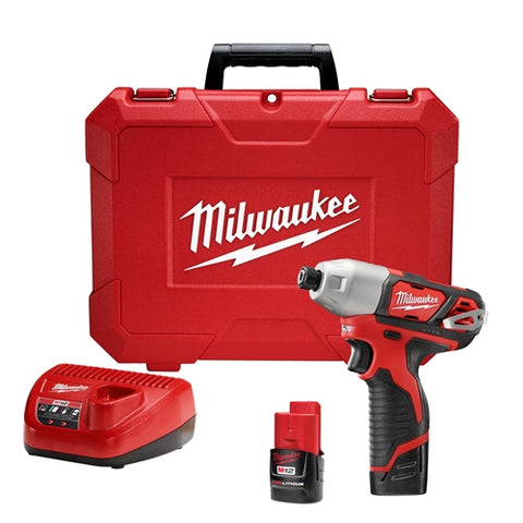 "Milwaukee 2462-22 M12 1/4"" Hex Impact Driver Kit"