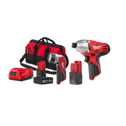 Milwaukee 2490-21 M12 Impact Driver with M12 XC Battery Combo Kit