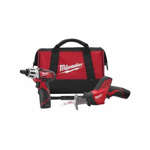 Milwaukee 2490-22 M12 Li-Ion 12V Screwdriver & Hackzall Combo Kit