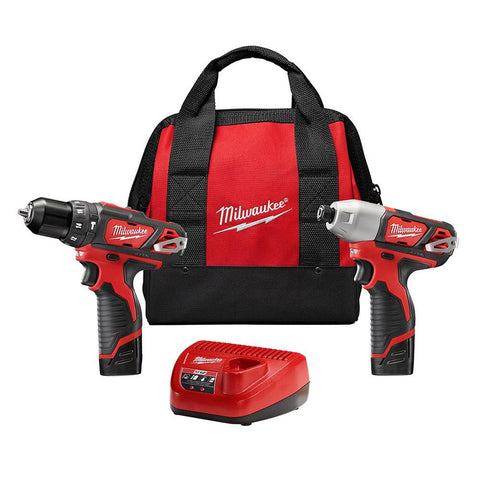 Milwaukee 2497-22 M12 Hammer Drill and Impact Combo