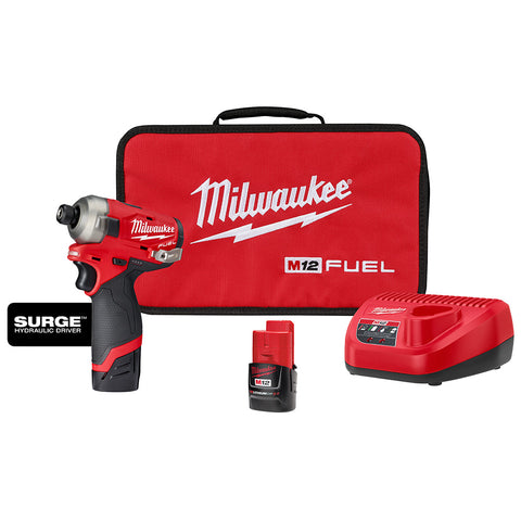 1//2 Drill /& 1//4 Hex Impact Milwaukee Electric Tools 2596-22 M12 Fuel 2Pc Kit
