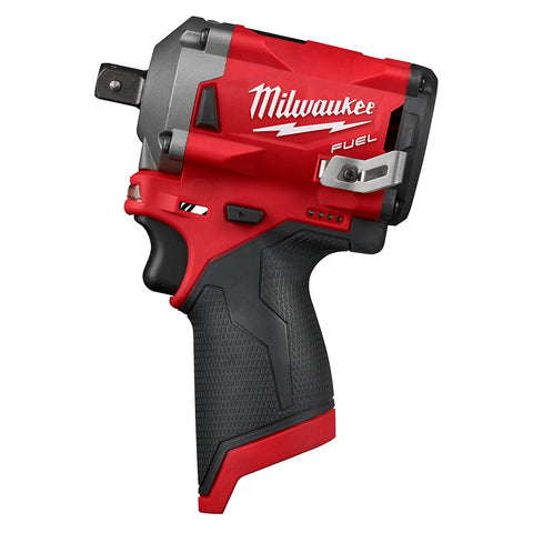 "Milwaukee 2555P-20 M12 FUEL Stubby 1/2"" Pin Impact Wrench"