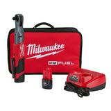 "Milwaukee 2558-22 M12 FUEL 1/2"" Ratchet 2 Battery Kit"