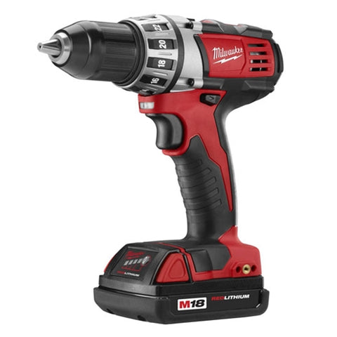 Milwaukee 2601-21 M18 Cordless Lithium-Ion Compact Drill Driver Kit With One Battery