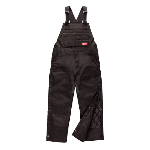 Milwaukee 261B-LR GRIDIRON Zip-to-Thigh Bib Overall - Black (Regular)