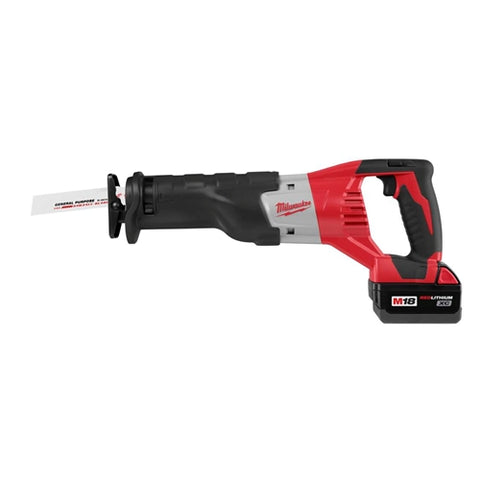 Milwaukee 2620-22 M18 Li-Ion 18V Sawzall Kit with 2 Batteries
