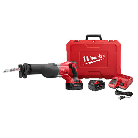 Milwaukee 2621-22 M18 SAWZALL Reciprocating Saw, 2 Battery Kit