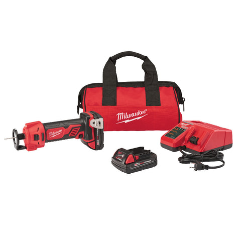 Milwaukee 2627-22CT M18 Cut Out Tool Kit with Compact Batteries
