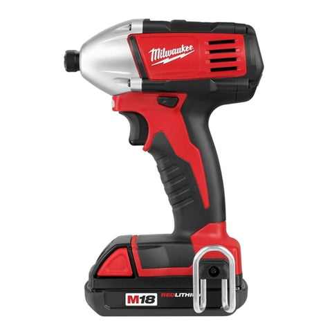"Milwaukee 2650-21 M18 Compact 1/4"" Impact Driver Kit with 2 Compact Batteries"
