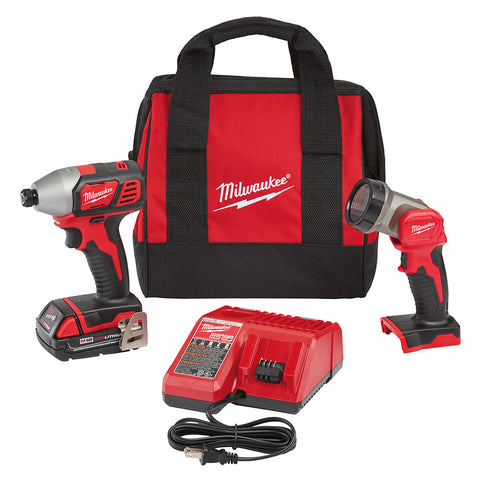 Milwaukee 2656-21L M18 Impact Driver Kit with LED Light