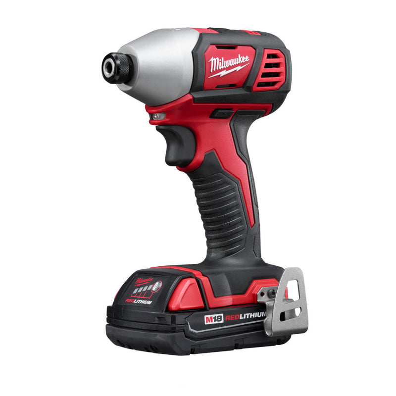 "Milwaukee 2656-22CT M18 Cordless 1/4"" Hex Impact Driver Tool Kit"