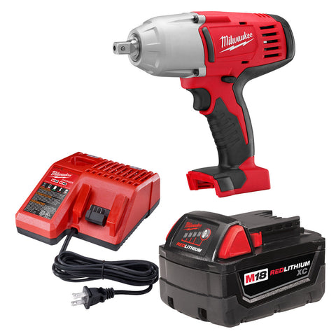 "Milwaukee 2662-21 M18 1/2"" High-Torque Impact Wrench with Pin Detent Kit"